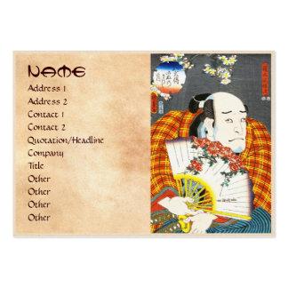 Actor Asao Okuyama III as Nurude Gobaiji Kunisada Pack Of Chubby Business Cards