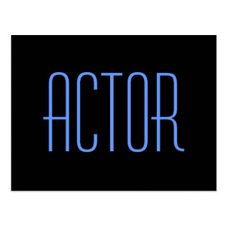 Actor Autograph Card Postcard