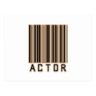 Actor Barcode Postcard