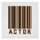 Actor Barcode Print