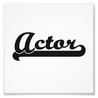 Actor Classic Job Design Photo Art