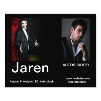 Actor Headshot Affordable Comp  Cards 11.5 Cm X 14 Cm Flyer