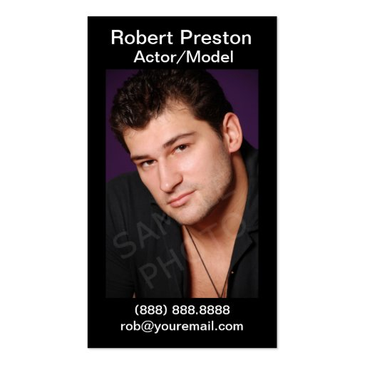 Actor Headshot Business Cards