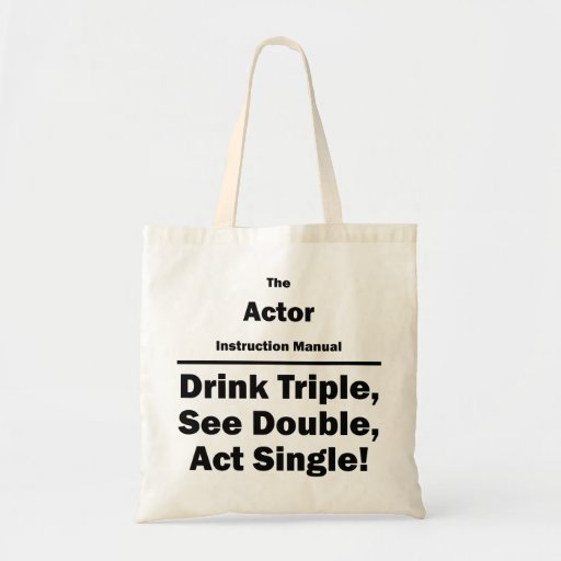 Actor Instruction Manual Bags