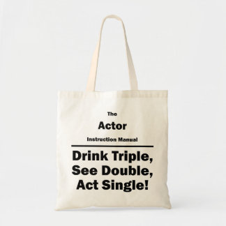 Actor Instruction Manual Budget Tote Bag