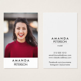 Actor Models Dancer Photo Business Card