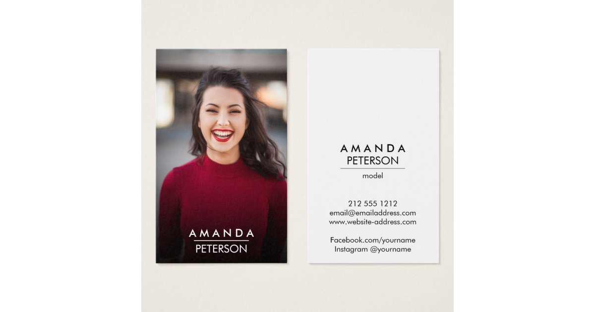 Actor Models Dancer Photo Transparent Gradient Business Card ...