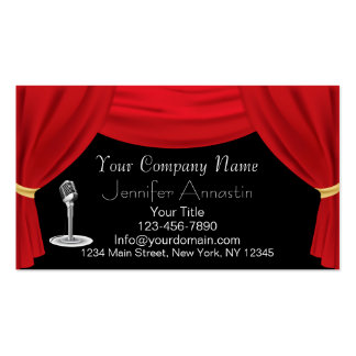 Actor or Singer Business Card
