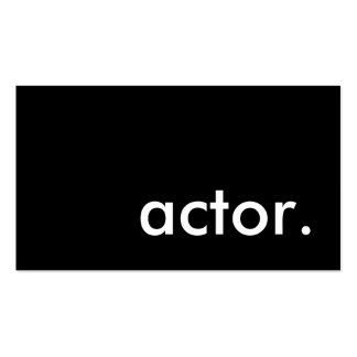 600 Actor Business Cards and Actor Business Card