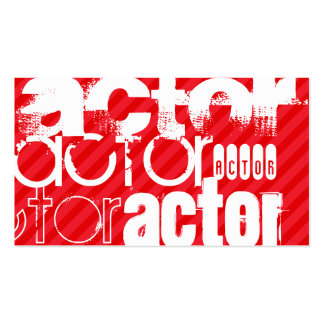 Actor; Scarlet Red Stripes Pack Of Standard Business Cards