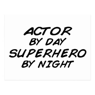 Actor Superhero by Night Postcards