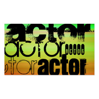 Actor; Vibrant Green, Orange, & Yellow Pack Of Standard Business Cards
