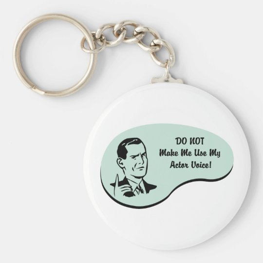Actor Voice Basic Round Button Key Ring
