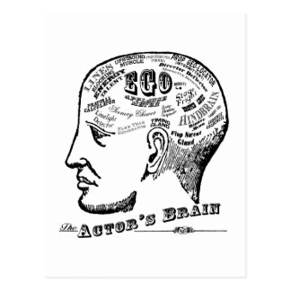 Actor's Brain Postcard