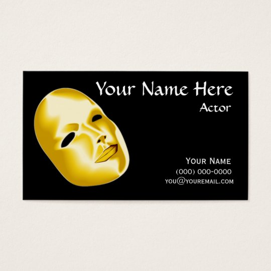 Actors business cards