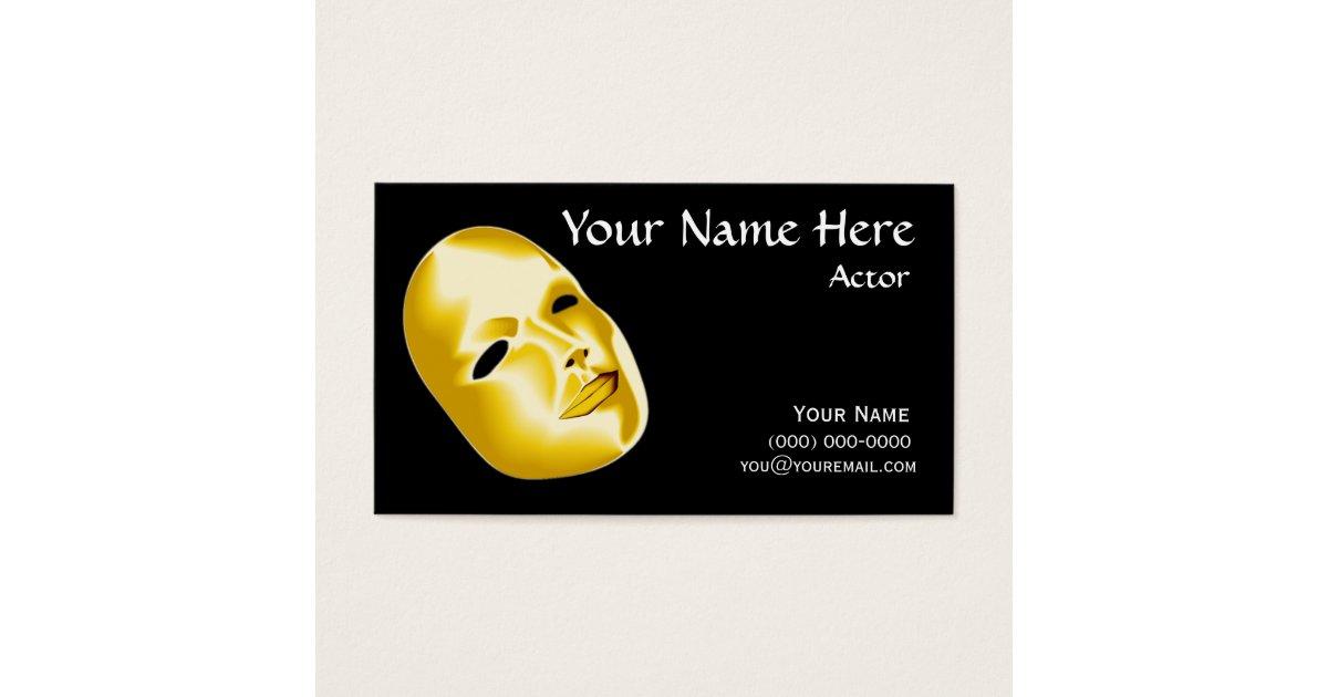 Actors business cards | Zazzle.co.uk