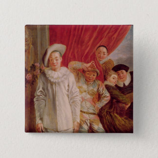 Actors of the Comedie Italienne 15 Cm Square Badge