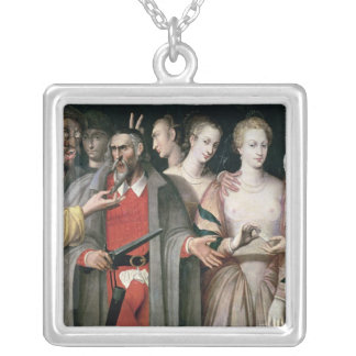 Actors of the Commedia dell'Arte Silver Plated Necklace