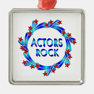 Actors Rock Red Stars Christmas Ornament