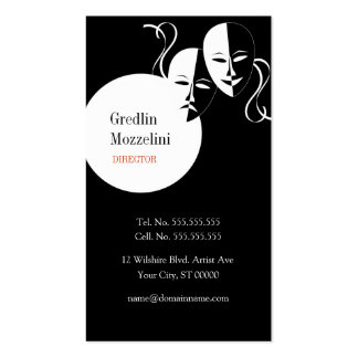 Actress Actor Theater Performer Business Card