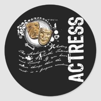 Actress Alchemy of Acting Classic Round Sticker