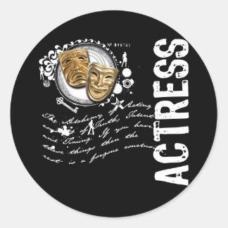 Actress Alchemy of Acting Round Sticker