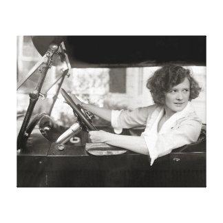 Actress Behind the Wheel, 1921 Canvas Print