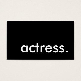 actress. business card