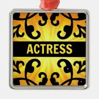Actress Damask Christmas Ornament