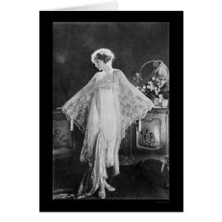 Actress Lillian Gish 1922 Greeting Card