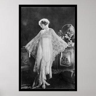 Actress Lillian Gish 1922 Poster