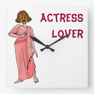 Actress lover square wall clock