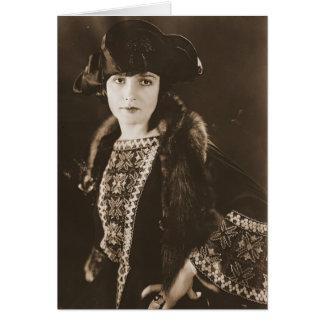 Actress Madge Bellamy 1922 Greeting Card
