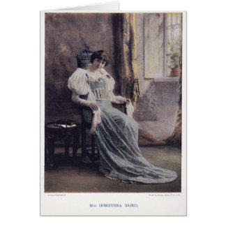 Actress Miss Dorothea Baird [1875-1933] Greeting Card