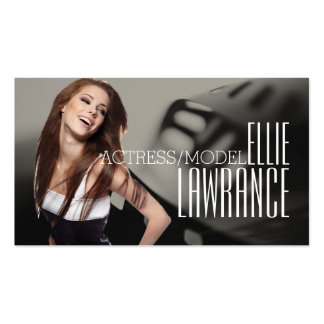 Actress Model Headshot Card Pack Of Standard Business Cards