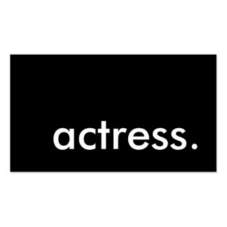 actress. pack of standard business cards