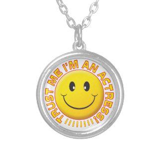Actress Trust Me Smiley Custom Necklace