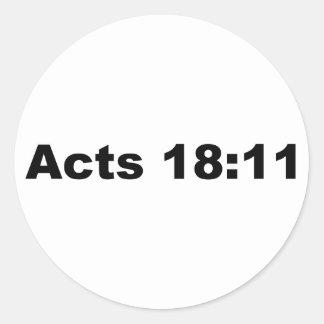 Acts 18 11 sticker