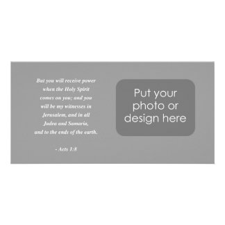ACTS 1:8 Bible Verse Photo Card Template