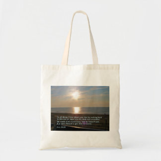 Acts 20:35  Sunrise Budget Tote Bag