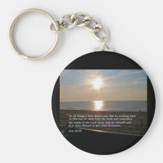 Acts 20:35  Sunrise Key Ring