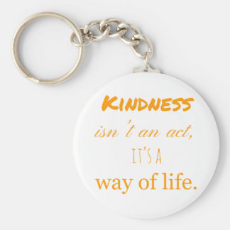 Acts of kindness keyring. basic round button key ring
