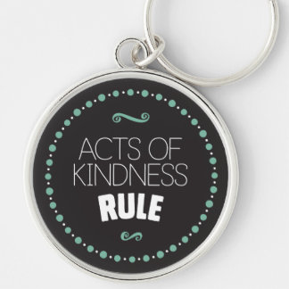 Acts of Kindness Rule – Black Key Ring