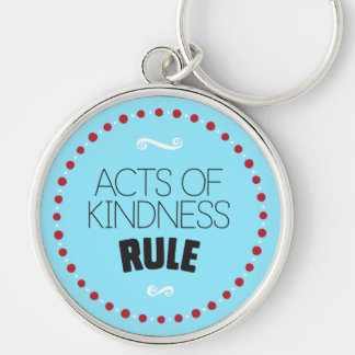 Acts of Kindness Rule – Blue Key Ring