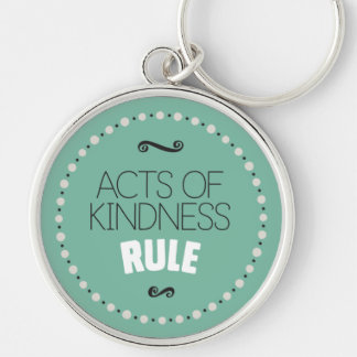 Acts of Kindness Rule – Green Key Ring