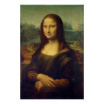 Actual Size of Mona Lisa painting print on canvas Posters