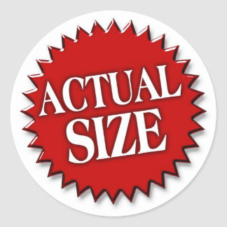 Actual Size Round Sticker