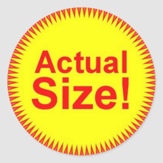 Actual Size Stickers