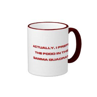 Actually, I Prefer The Food In The Gamma Quadrant Coffee Mugs
