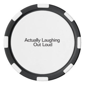 Actually Laughing Out Loud Poker Chip Set